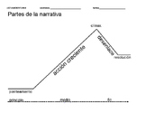 Plot diagram worksheet (in Spanish) - use for notes or wit