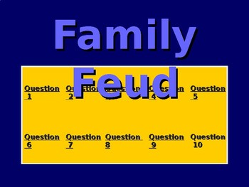 Plot test vocabulary review Family Feid game