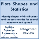 Statistics:  Plots, Shapes of Distributions, Choosing Mean or Median