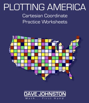 Plotting America Coordinate Plane Graphs Sample