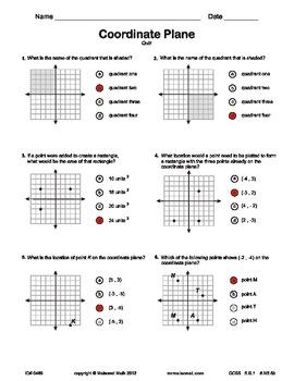 Plotting Coordinates Quiz
