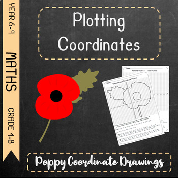Plotting Coordinates - Remembrance Poppy Drawing