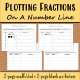 Plotting Fractions On A Number Line Worksheet Expanded 3.NF.A.2
