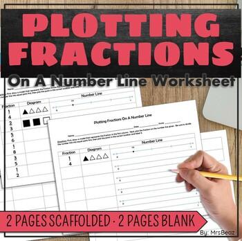 plotting fractions on a number line worksheet expanded 3 nf a 2 by mrs beaz. Black Bedroom Furniture Sets. Home Design Ideas