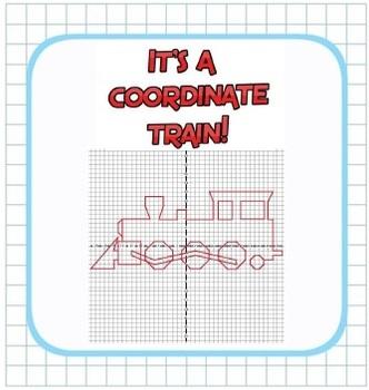 Plotting Integers - Coordinate Train Fun! - Grid & Ordered Pairs - 4 Quadrants