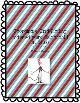 Plotting Ordered Pairs in Coordinate Grid-Cat in the Hat
