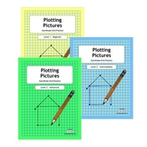 Plotting Pictures Deluxe - Levels 1-3 Coordinate Grid Practice