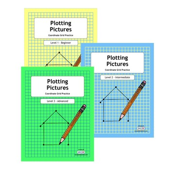 Plotting Pictures Deluxe - Levels 1-3 Coordinate Grid Practice