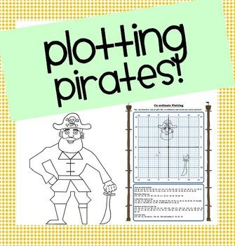 Plotting Pirates! Co-ordinates/Ordered Pairs Picture!