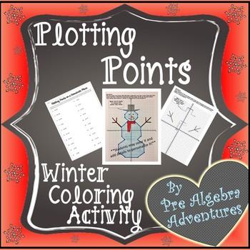 Plotting Points Christmas Pic {Christmas Plotting Points}{Plotting Point Winter}