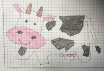 "Plotting Points Activity ""Cow"""