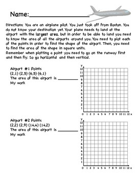 Plotting Points/Area and Division Plane Packet
