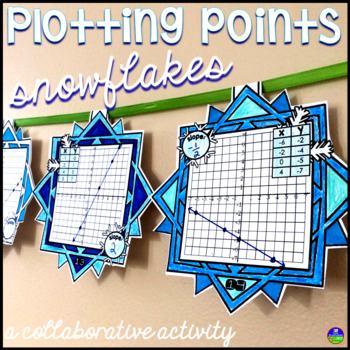 Plotting Coordinate Points Snowflake Pennant Activity