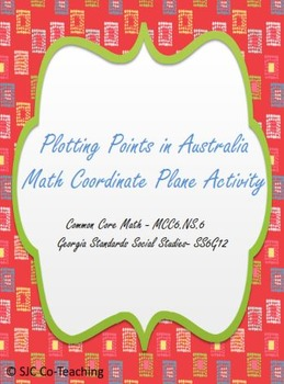 Plotting Points in Australia Math and Social Studies Coordinate Plane Activity