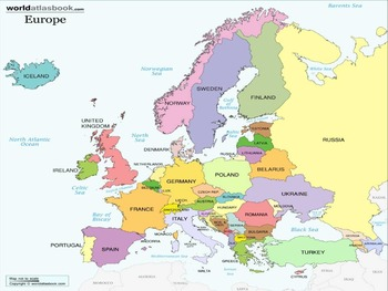 Plotting Points in Europe Math & Social Studies Coordinate Plane Activity