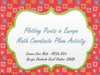Plotting Points in Europe Math & Social Studies Coordinate