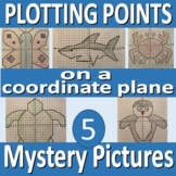Plotting Points on a Coordinate Plane - 5 Mystery Pictures