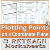 Plotting Points on a Coordinate Plane Reteach Worksheets