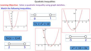 Plotting Quadratic Inequalities