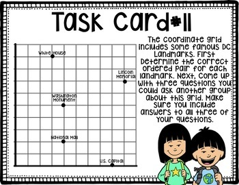 Plotting and Graphing Task Cards - Covering Standards 5GA1, 5GA2, 5MD2