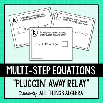 Multi-Step Equations Relay