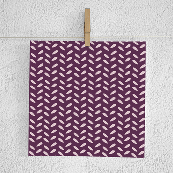 Plum And Gray Hand Drawn Patterns