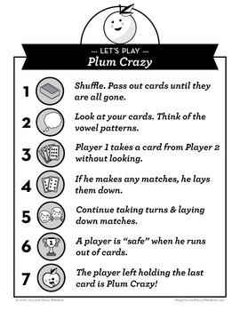 Plum Crazy short u, CVCe, ui Phonics Game - Words Their Way Game