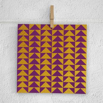 Plum & Gold Tribal Digital Paper Pack, Gold Patterns
