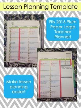 Plum Paper Large Teacher Planner Template