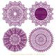 Plum Round Lace Doilies - Lace Doily, Vintage Doilies