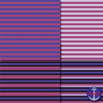 Plum Surprise Chevron, Polka Dot & Striped Papers for Backgrounds and More