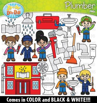 Plumber Community Helpers Clipart {Zip-A-Dee-Doo-Dah Designs}