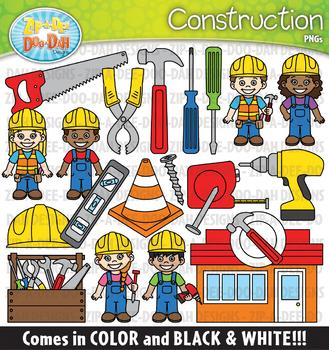 Construction Community Helpers Clipart {Zip-A-Dee-Doo-Dah Designs}