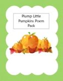 Plump Little Pumpkins Couplet Poem Set
