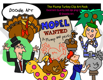 Plump Turkey Clipart Pack