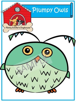 Plumpy Owls *Penny & Ellie's Doghouse Clipart*