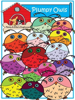 Plumpy Owls *Penny & Ellie's Doghouse Clipart*