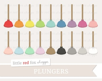Plunger Clipart; Bathroom, Cleaning Supplies