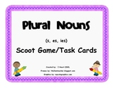 Plural Nouns Task Cards or Scoot Game (s, es, ies)