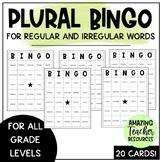 Plural Bingo - Regular and Irregular Words! Great for ELLs