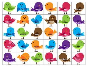 Plural Birds - Words with -s, -es, -ies plurals