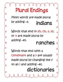 Plural Endings
