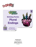 Plural Endings--Birthday Parties Literacy Center (eLesson)