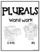 Plural Endings Word Work - Phonics Interactive Notebook