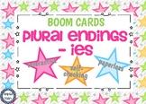 Plural Endings -ies Boom Cards Digital Task Cards