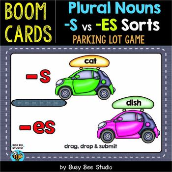 Plural Endings (-s, -es) Sorting Game | Boom Cards