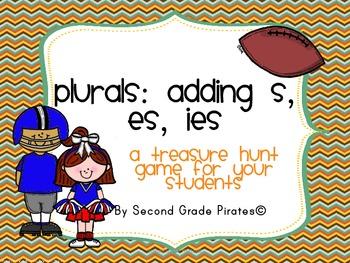 Plural Endings: -s, -es. -ies: Classroom Scavenger Hunt