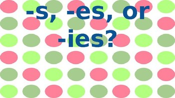 Plural Endings- Digital review and practice with s, es, and ies