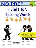 Plural F - VES Words - Spelling Packet