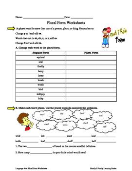 Plural Form Worksheets